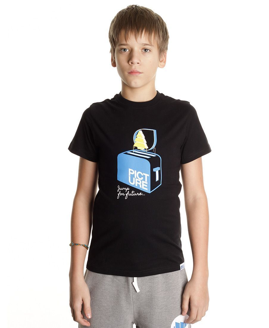 Футболка детская Picture Organic Toaster Kids Tee Black