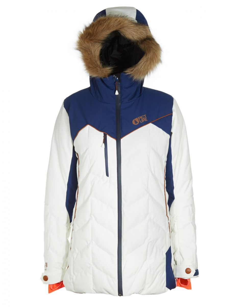картинка Куртка 20/15 жен. Picture Organic FLY 2 JKT EXPE C White/Dark Blue от магазина skillboard.ru Тел. +7(495)142-42-61