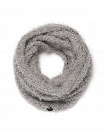 Снуд Ж FUZZY CIRCULAR SCARF LIGHT GREY HEAT