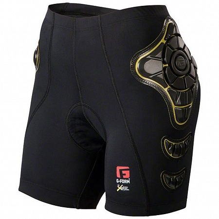 G-FORM защитные шорты ж PRO-B SHORTS-WOMENS (A/S) (BLACK/YELLOW)